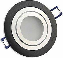 LED Einbaustrahler schwarz - rund 5 Watt warmweiß