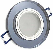 LED Einbaustrahler schwarz - rund 5W neutralweiß