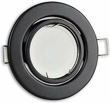 LED Einbaustrahler schwarz - rund 5W warmweiß