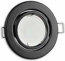 LED Einbaustrahler schwarz rund 7 Watt warmweiß