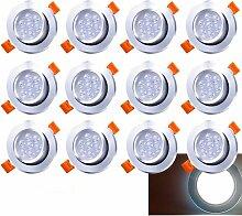 LED Einbaustrahler Schwenkbar 12X 7W 230V