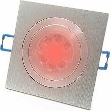 LED Einbaustrahler schwenkbar Chrom Lampe GU10