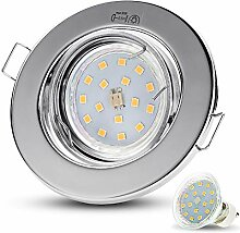 LED Einbaustrahler Schwenkbar DECORO Rund (Chrom)