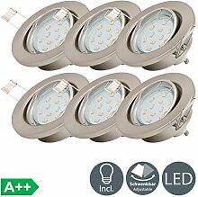 LED Einbaustrahler schwenkbar inkl. 6 x 3W