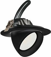 LED-Einbaustrahler Schwenkbar Rund 38W Schwarz