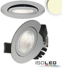 LED Einbaustrahler schwenkbar silber 8W warmweiß