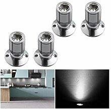 LED Einbaustrahler Set 4er, Audor 1W LED