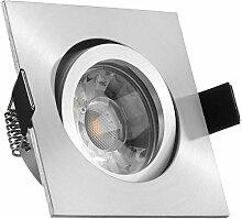 LED Einbaustrahler Set Aluminium matt mit COB LED