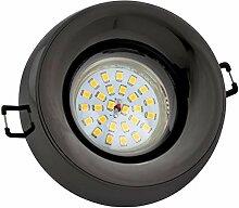 LED Einbaustrahler Set Anthrazit mit LED GU10