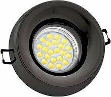 LED Einbaustrahler Set Anthrazit mit LED GU5.3 /