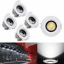 LED Einbaustrahler Set, Audor 5X 3W LED