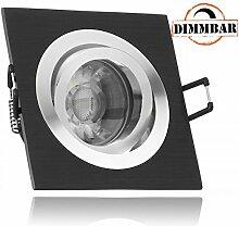 LED Einbaustrahler Set Bicolor (chrom / schwarz)