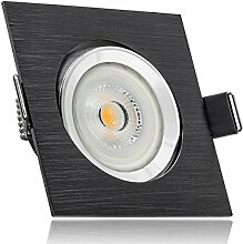 LED Einbaustrahler Set Bicolor (chrom/schwarz) mit