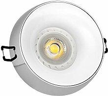 LED Einbaustrahler Set Chrom mit LED GU10