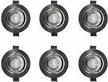 LED-EINBAUSTRAHLER SET CHROM OSRAM PAR16 GU10