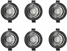 LED-EINBAUSTRAHLER SET EDELSTAHL OSRAM PAR 16 GU10