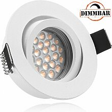 LED Einbaustrahler Set EXTRA FLACH (35mm) in Weiß