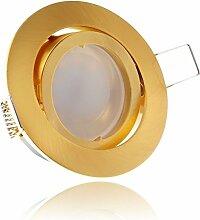 LED Einbaustrahler Set Gold/Messing mit LED GU10