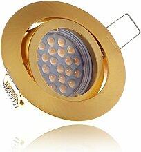LED Einbaustrahler Set Gold/Messing mit LED GU5.3