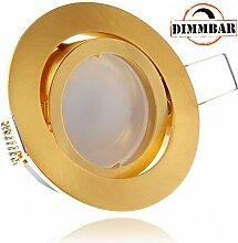LED Einbaustrahler Set Gold mit LED GU10
