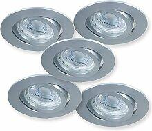 LED Einbaustrahler Set GU10 | 5x Einbauspot 5W