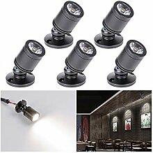 LED Einbaustrahler Set Minispot 5er, 3W LED