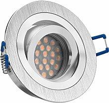 LED Einbaustrahler Set mit LED GU10 Markenstrahler