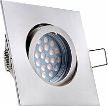 LED Einbaustrahler Set mit LED GU5.3 / MR16