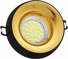 LED Einbaustrahler Set Schwarz mit LED GU10