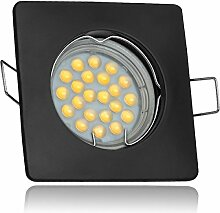 LED Einbaustrahler Set Schwarz mit LED GU5.3 /