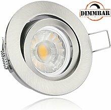 LED Einbaustrahler Set Silber gebürstet mit COB