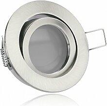 LED Einbaustrahler Set Silber gebürstet mit LED