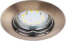 LED Einbaustrahler Set, warmweiß, GU10, bronze