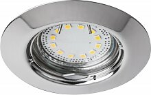 LED Einbaustrahler Set, warmweiß, GU10, chrom