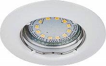 LED Einbaustrahler Set, warmweiß, GU10, weiß