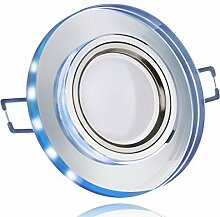 LED Einbaustrahler Set Weiß Kristall/Glas mit