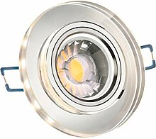 LED Einbaustrahler Set Weiß Kristall / Glas mit