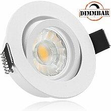 LED Einbaustrahler Set Weiß matt mit COB LED GU10