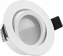 LED Einbaustrahler Set Weiß matt mit LED GU10