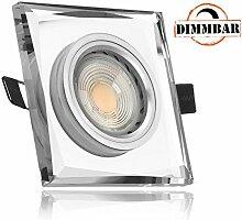 LED Einbaustrahler Set Weiß mit COB LED GU10