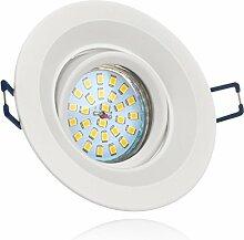 LED Einbaustrahler Set Weiß mit LED GU10