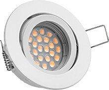LED Einbaustrahler Set Weiß mit LED GU5.3 / MR16