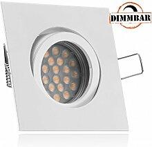 LED Einbaustrahler Set Weiß/Weiss mit LED GU10