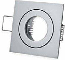 LED Einbaustrahler Silber - eckig 3W neutralweiß