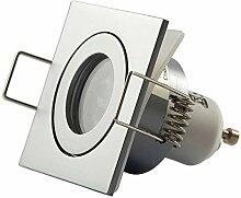 LED Einbaustrahler Silber - eckig 3W warmweiß