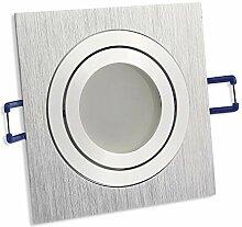 LED Einbaustrahler silber - eckig 5 Watt kaltweiß