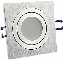 LED Einbaustrahler silber - eckig 5 Watt warmweiß