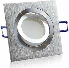 LED Einbaustrahler silber - eckig 9 Watt warmweiß