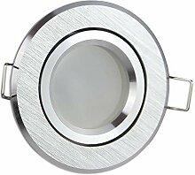 LED Einbaustrahler silber gebürstet rund 5 Watt