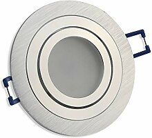 LED Einbaustrahler silber - rund 7 Watt kaltweiß